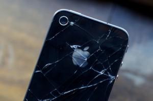 Sự cố vỡ màn hình iPhone cũng trên phiên bản 4